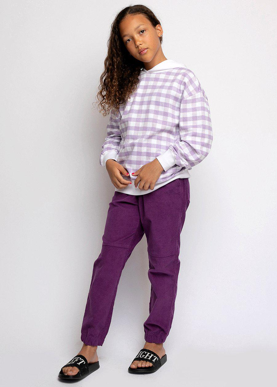 Purple Corduroy Cargo Trousers-TeenzShop