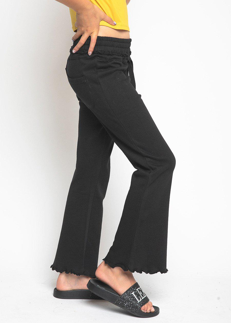 Girls Black Boot Cut SweatPants