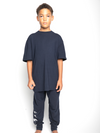 Youth Boys Navy Pyjama Lounge Set-TeenzShop