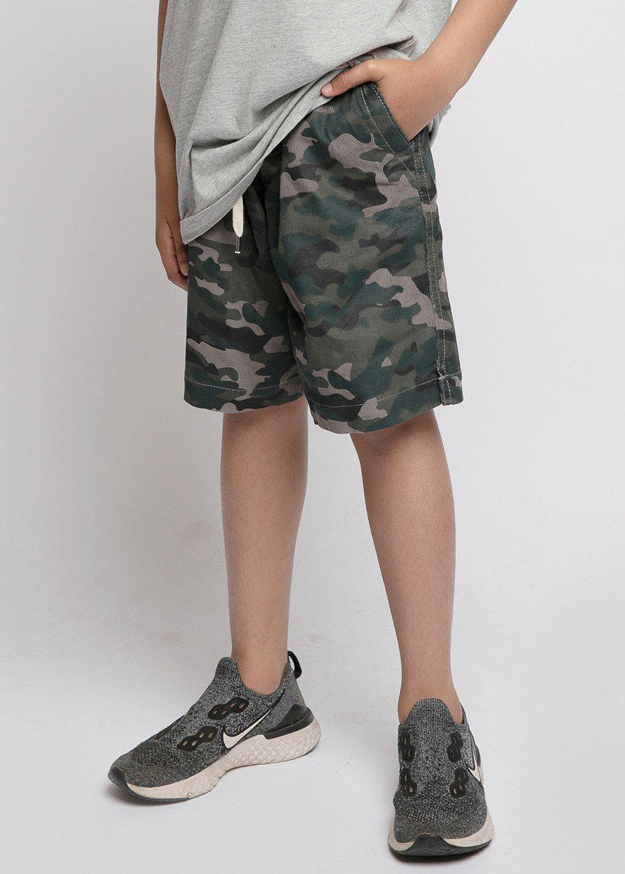 Boys Camo Corduroy Rib Shorts-TeenzShop