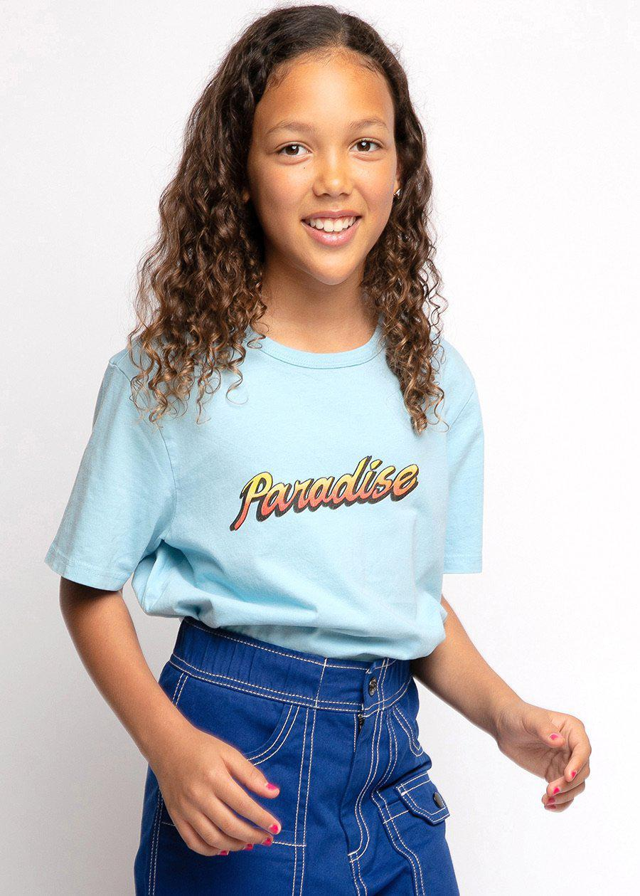 Girls Light Blue Paradise T-shirt