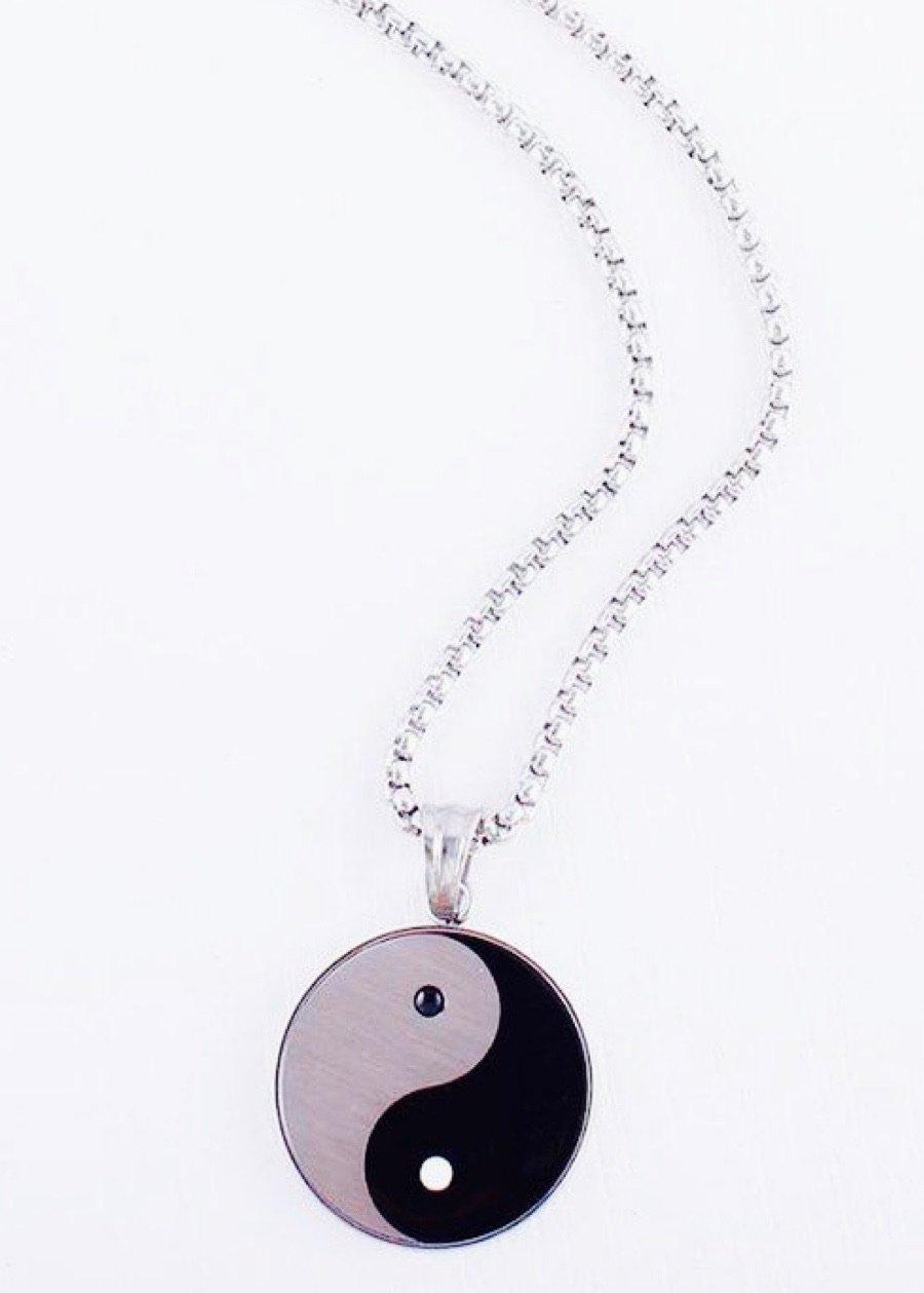 Yin Yang Pendant Necklace-TeenzShop
