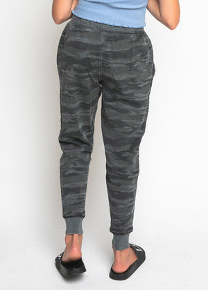 Girls Camo Basic Ripped Joggers-TeenzShop