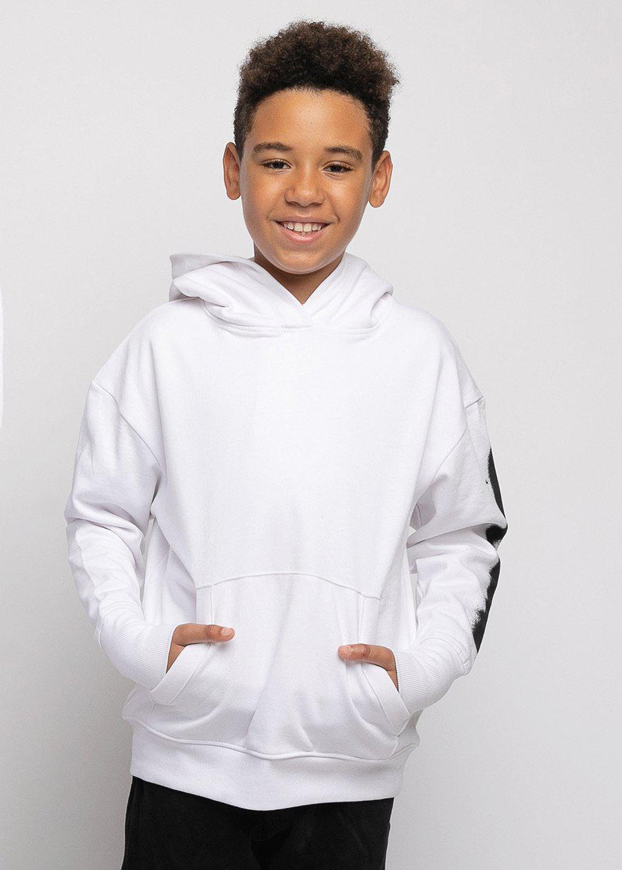 Boys White Sphinx Graphic Hoodie-TeenzShop