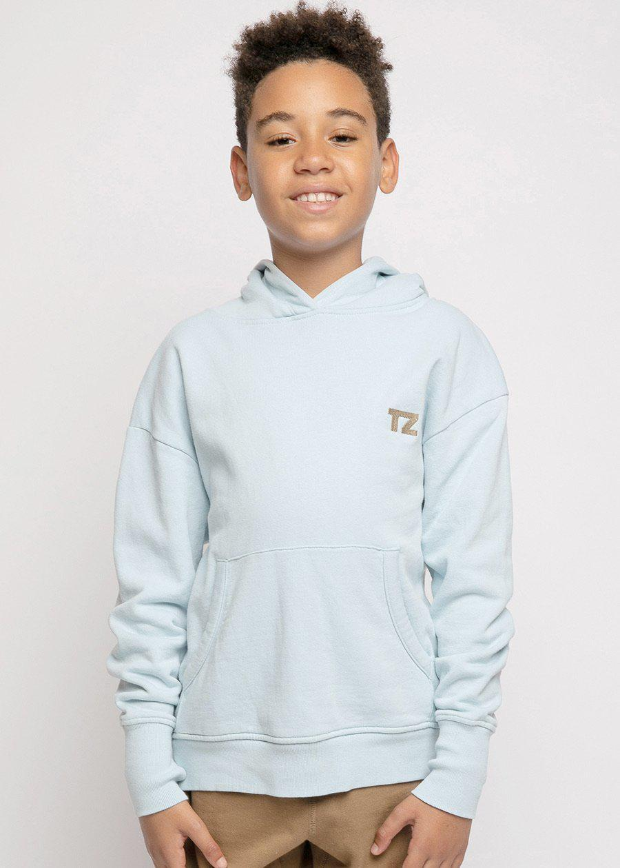 Boys Blue Embroidered logo Hoodie