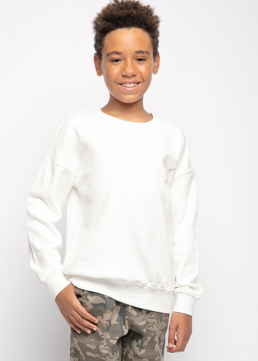 Boys White Chieftain SweatShirt-TeenzShop