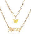 Yellow Butterfly Honey Double Necklace-TeenzShop