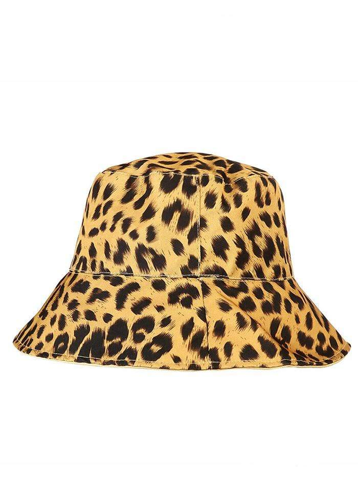 Leopard Print Double-Sided Bucket Hat-TeenzShop
