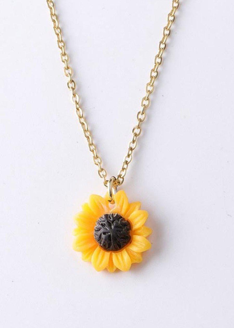 Sunflower Pendant Necklace-TeenzShop