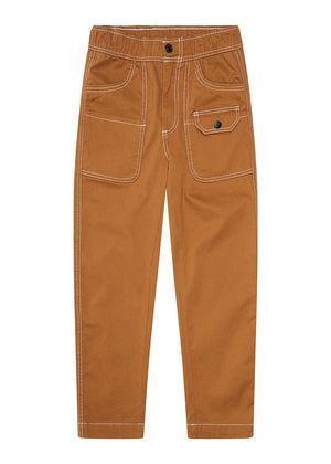 Tobacco Contrast Stitch Skater Trouser