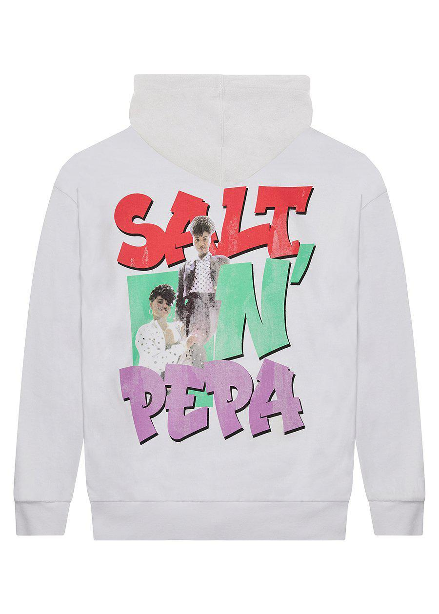 Girls Salt-N-Pepa White Hoodie-TeenzShop