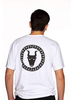 TeenzShop  Boys White Graphic Logo T-shirt