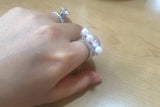 Sterling Silver Pearls on Bar Ring, Small - SDG by Grace