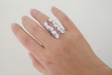 Sterling Silver Angel's Wing Open Ring - SDG by Grace