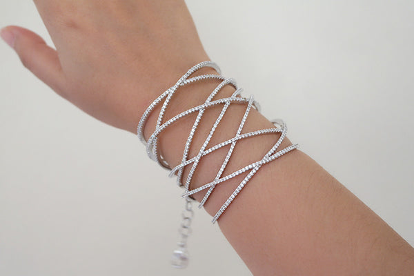 Sterling Silver Gladiator Bangle (2 Colors) - SDG by Grace