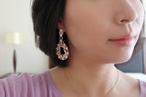 Sterling Silver Big Pave Drop Earrings (2 Colors) - SDG by Grace