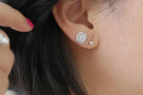 Sterling Silver Flower Stud Earrings - SDG by Grace