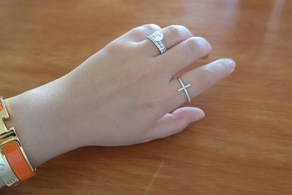 Sterling Silver Cross Ring - SDG by Grace