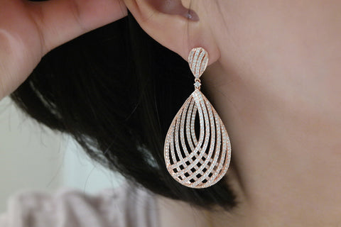 Brass Big Teardrop Earrings (2 Colors) - SDG by Grace