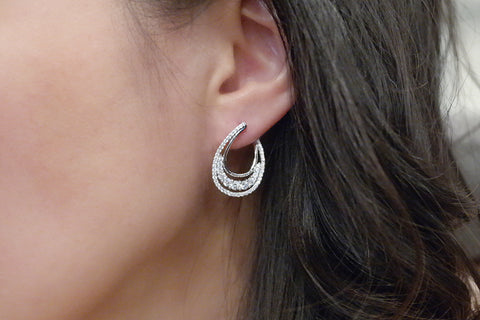 Sterling Silver Teardrop Earrings (4 Colors)