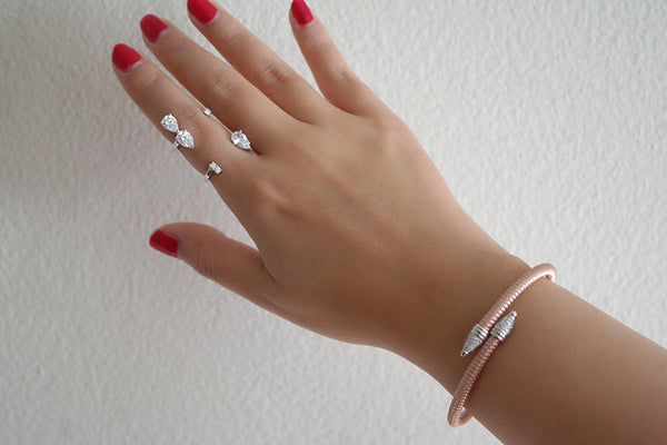 Cone Head Lock Italian Silver Bracelet - SDG by Grace