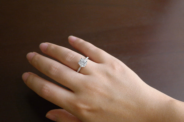 Sterling Silver 2 Carat Solitaire Ring - SDG by Grace