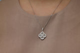 Sterling Silver Swirl Pave Clover Necklace - SDG by Grace