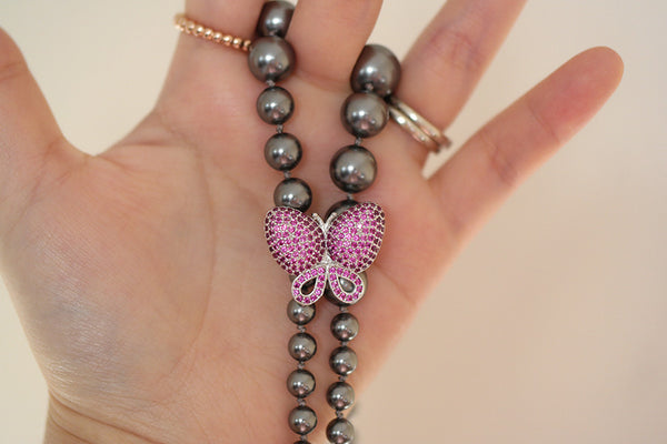 Butterfly Graduated Pearl Necklace (4 Options) - SDG by Grace