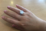Sterling Silver Square CZ Halo Setting Ring - SDG by Grace