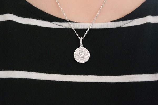 Sterling Silver Brilliant Disc Necklace (3 Colors) - SDG by Grace