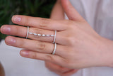 Sterling Silver Marquise Chain Ring (2 Colors) - SDG by Grace