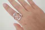 Sterling Silver Wide Infinity Ring - SDG by Grace