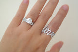 Sterling Silver Love Script Ring - SDG by Grace