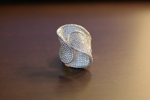 Brass Big Wave Cocktail Ring - SDG by Grace