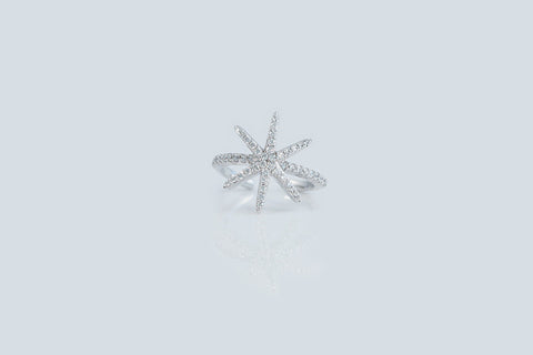 Sterling Silver Snowflake Ring (4 Colors) - SDG by Grace