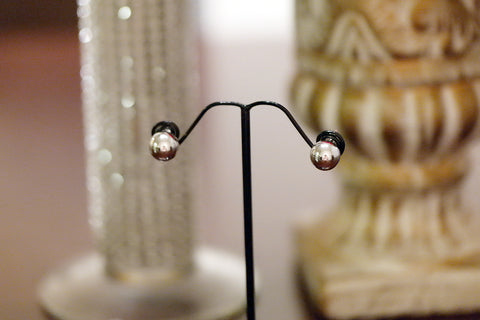 Sterling Silver 10mm Silver Ball Stud Earrings