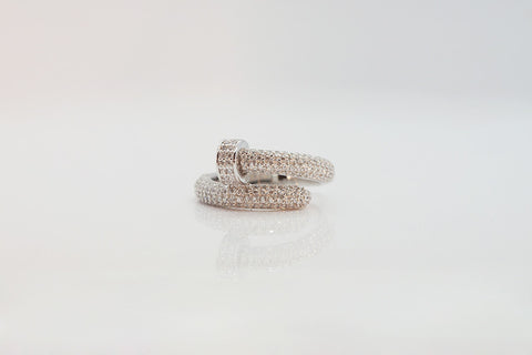 Sterling Silver Pave Nail Ring - SDG by Grace