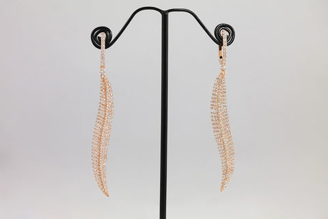 Brass Leaf Earrings - SDG by Grace