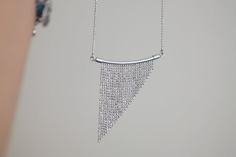 Italian Silver Fringe Chain Necklace - SDG by Grace