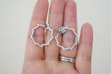 Sterling Silver Open Circle Wreath Earrings - SDG by Grace