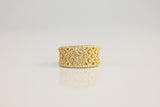 Sterling Silver Byzantine Cocktail Ring, Gold - SDG by Grace