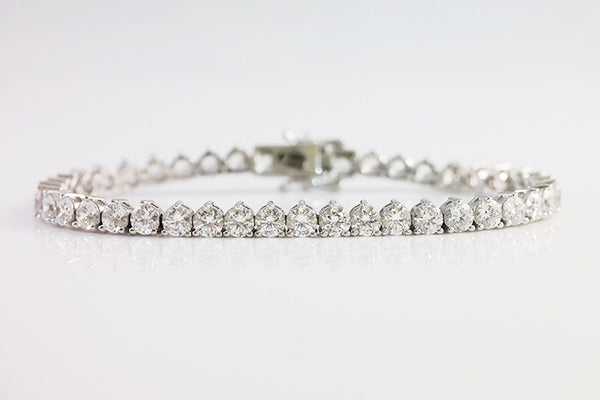 Sterling Silver Three Prong Tennis Bracelet, 4mm - SDG by Grace
