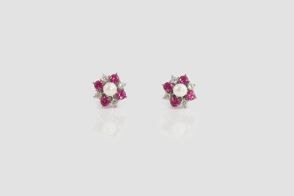 Sterling Silver Pearl Flower Earrings - SDG by Grace