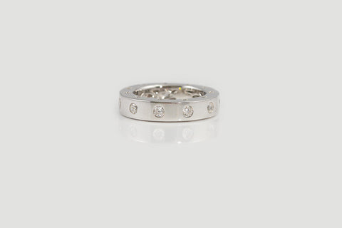Sterling Silver Shiny Side Set Ring (2 Colors) - SDG by Grace