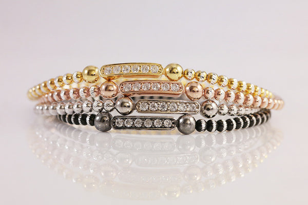 Italian Silver Beads Bar Bracelet - SDG by Grace
