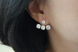 Sterling Silver Three Crystal Back Earrings (3 Colors) - SDG by Grace
