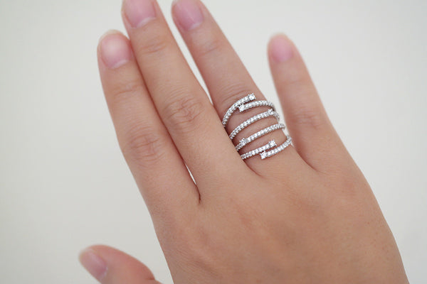 Sterling Silver Twinkle Line Ring (4 Colors) - SDG by Grace