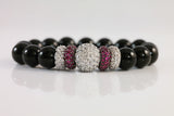 Sterling Silver Pave Ball Bracelet - SDG by Grace