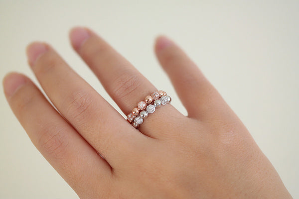 Sterling Silver Beaded Ring (2 Colors) - SDG by Grace