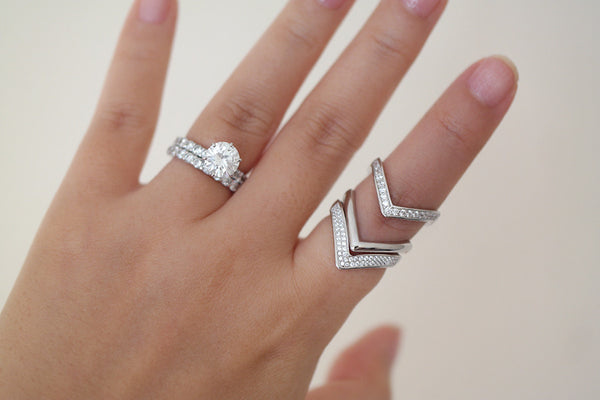 Sterling Silver Double Chevron Ring - SDG by Grace